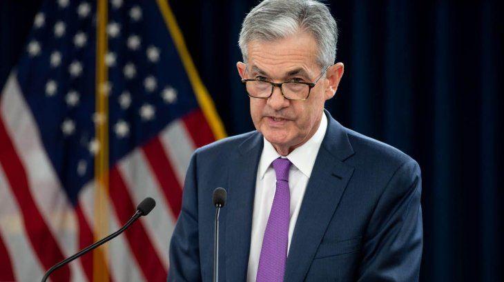 Jerome Powell presidente de la Reserva Federal de Estados Unidos.