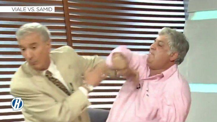 La histórica pelea de Mauro Viale y Alberto Samid