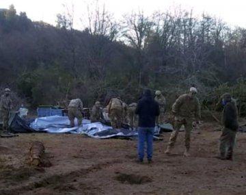 La EscuelaMilitar de Montaña, perteneciente al Ejército Argentino, desmantelando elinvernadero.