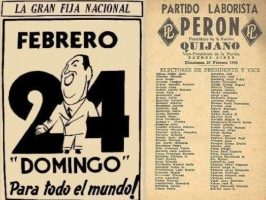 Se cumplen 74 años del primer triunfo de Perón