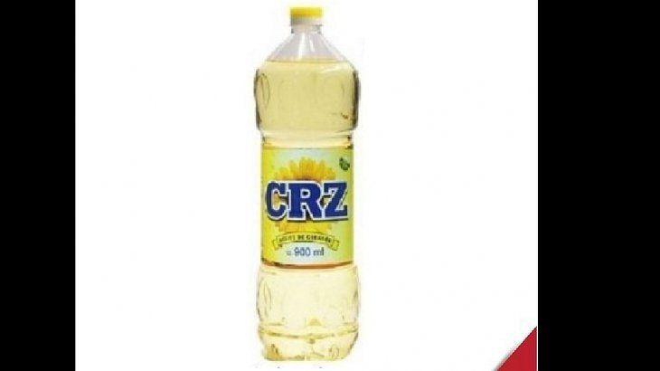 ANMAT prohibió el aceite de girasol marca CRZ, de la provincia de Santa Fe.