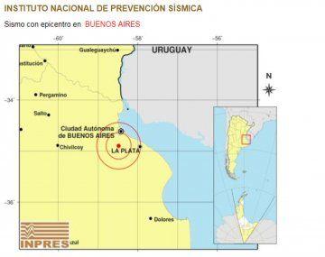 Un sismo sacudió la zona sur del Gran Buenos Aires.
