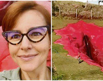 diva. La artista Juliana Notari y la escultura gigante de la vagina,