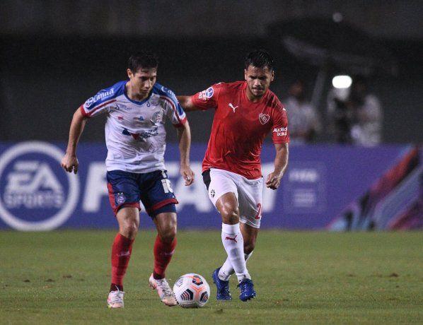 Independiente se trajo de Brasil un empate signado por el caos