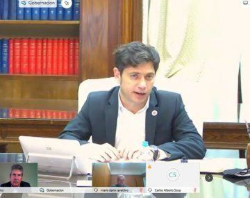 El gobernador bonaerense Axel Kicillof, estuvo acompañado por el ministro de Desarrollo Agrario, Javier Rodríguez.