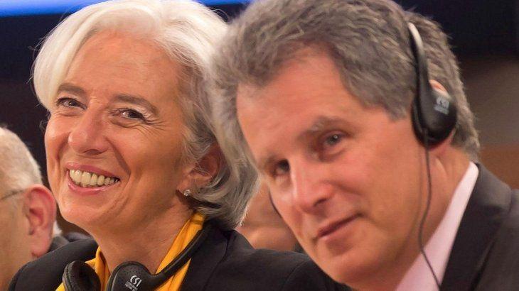 Christine Lagarde y David Lipton.