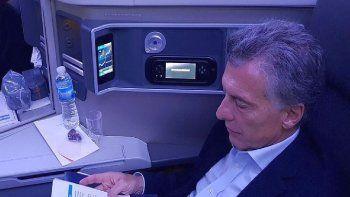 Mauricio Macri es un pasajero frecuente de la clase business de las aerolíneas.