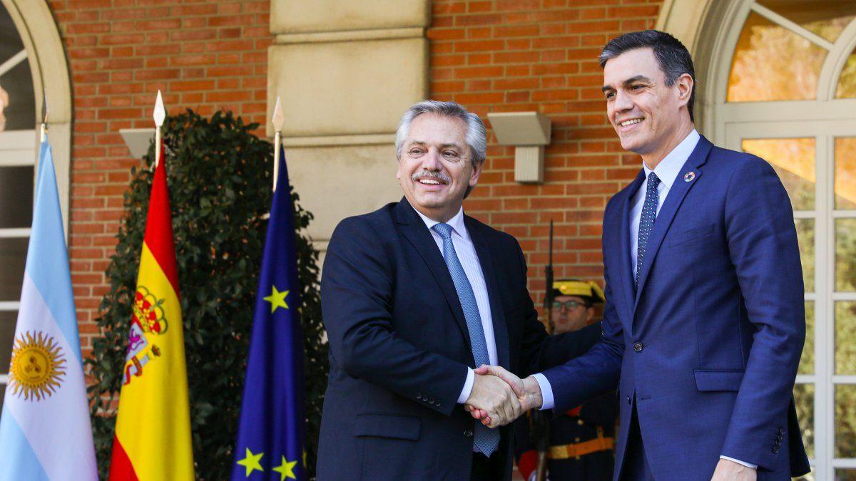 Alberto Fernández, tras encuentro con Pedro Sánchez: Me ofreció su apoyo  para que Argentina pueda salir adelante