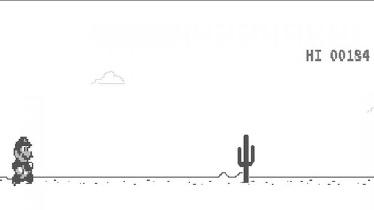 El Truco Para Convertir Al Dinosaurio De Google En Mario Bros Hasta que recordamos que si navegamos en google chrome la espera 'offline' es bastante divertida gracias al 'dino run': truco para convertir al dinosaurio de