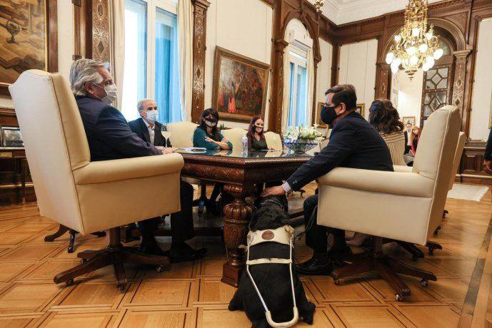 El presidente Alberto Fernández encabezó esta tarde