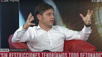 El gobernador de Buenos Aires, Axel Kicillof, en el programa Hagan algo de C5N.