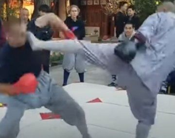 La patada del monje Shaolin se viralizó en las redes.