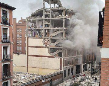 La explosión quedó registrada por varios usuarios de redes sociales