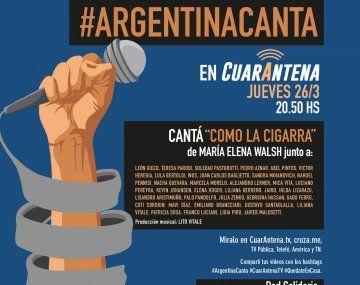 {altText(#ArgentinaCanta, a las 20.50,#ArgentinaCanta: más de 35 artistas contra el coronavirus)}