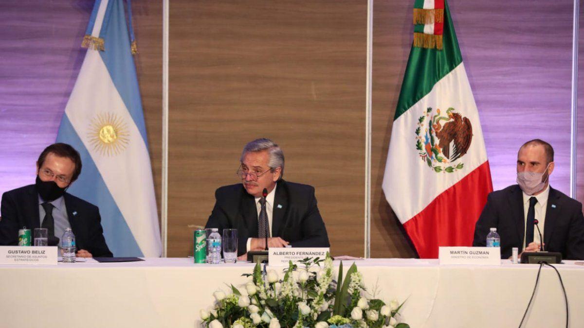 Alberto Fernándezse reunió con empresarios argentinos en México