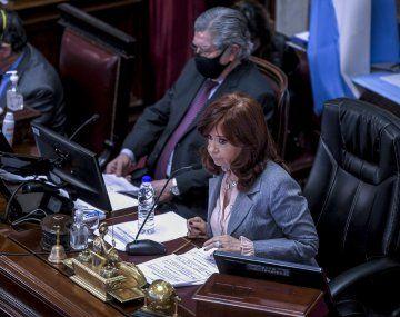Cristina utilizó Twitter para referirse a la ausencia de los camaristas.