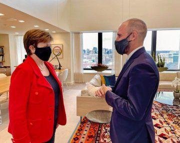 Kristalina Georgieva destacó la reunión con Martín Guzmán.