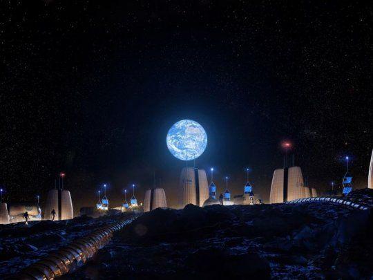 Imagen del día Asi-se-veria-la-primera-aldea-humanos-la-luna