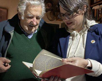Pepe Mujica y Gisela Marziotta se reunieron en Uruguay.