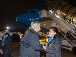 Expectativa a bordo del vuelo presidencial