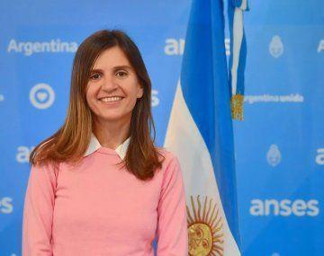 La directora ejecutiva de la ANSES,Fernanda Raverta, quien declaró como esencial el trabajo del personal del organismo.