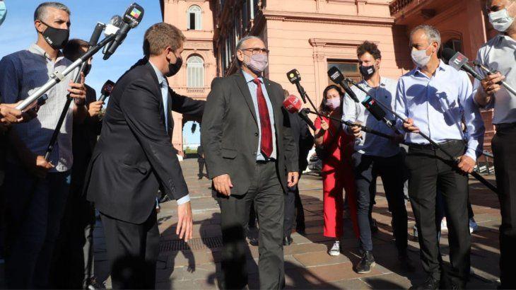 El ministro Basterra tras la reunión en la Casa Rosada