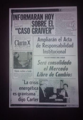 El 19 de abril de 1977 Clarín anticipaba el contenido de la conferencia de prensa de Jorge Videla ante 300 medios nacionales y extranjeros.