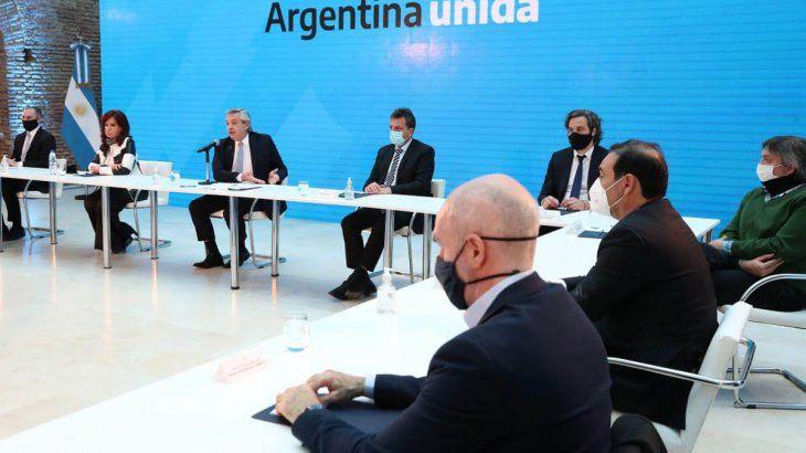 Alberto Fernández presentó en agosto los resultados de la adhesión al canje junto con Cristina Fernández de Kirchner y gobernadores. El acto sirvió de impulso para lanzar la agenda pospandemia.