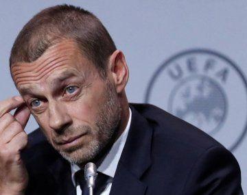 Ceferin, presidente de UEFA, intenta dejar atrás el mal trago por la Superliga europea.