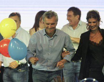 Mauricio Macri celebrando la victoria en las legislativas de 2017.