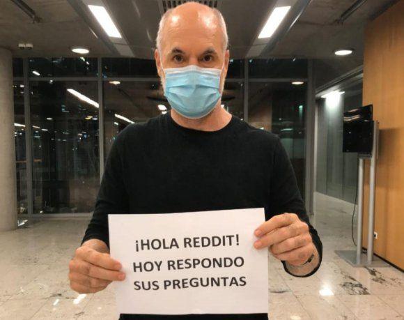 Rodríguez Larreta respondió preguntas por Reddit.
