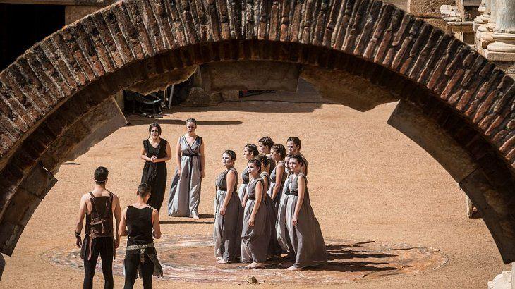 Mérida. Imagen del teatro grecorromano.