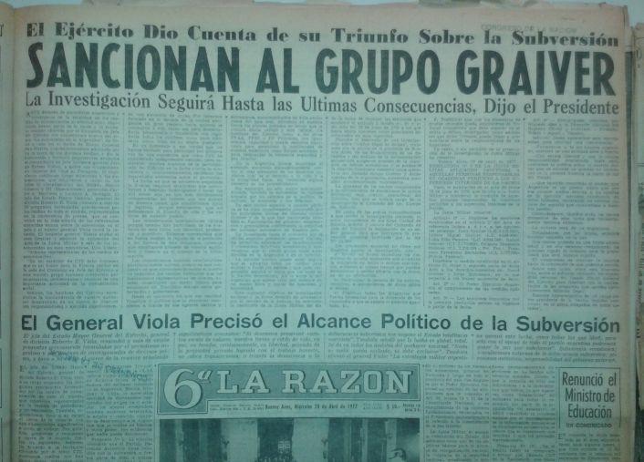 Lo mismo hizo el diario La Razón