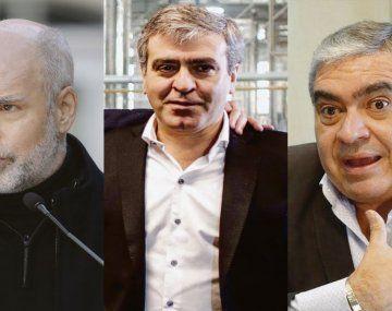 Horacio Rodríguez Larreta, José Cano y Germán Alfaro.