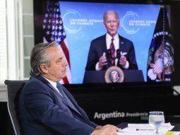 Alberto Fernández participó de la Cumbre de Líderes sobre el Cambio Climático.