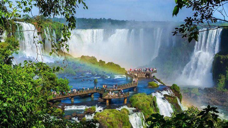 Las cataratas del Iguazú, imponentes.