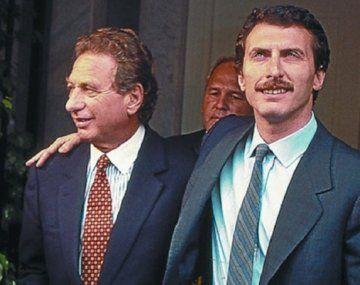 Otros tiempos, Mauricio Macri abrazo a su padre Franco Macri, con quien tuvo una relación pendular.