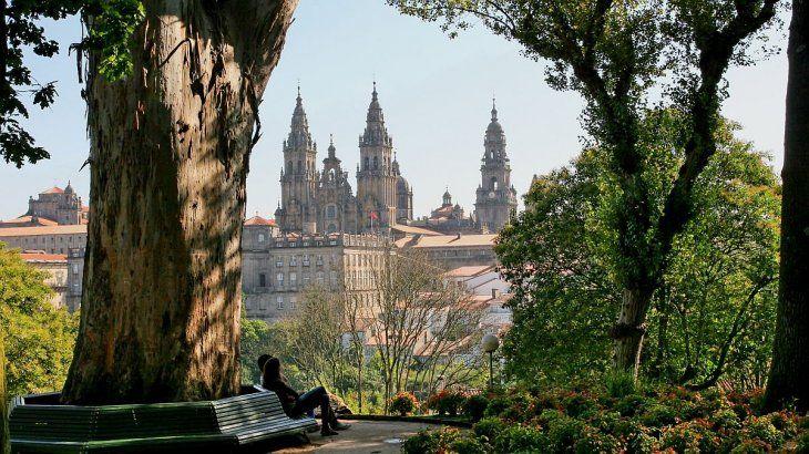 Parque Alameda en Santiago de Compostela.
