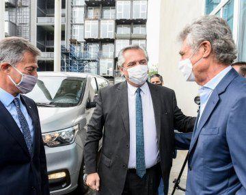 Alberto Fernández y Hugo Sigman. (Foto de archivo)
