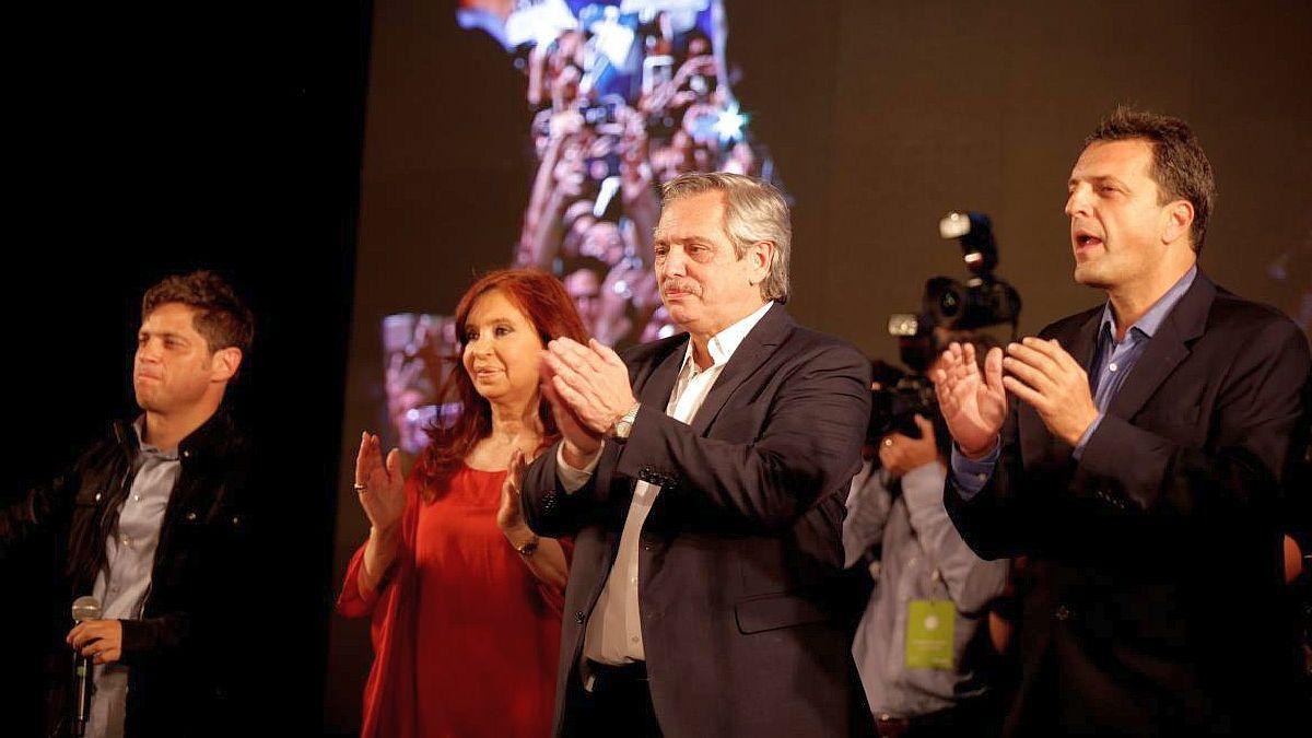 Con un acto, Alberto, Cristina y Massa presentan los candidatos del FdT