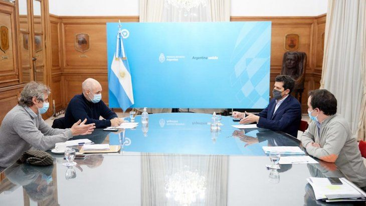 Rodríguez Larreta se reunió con Wado de Pedro en Casa Rosada