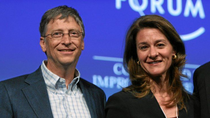 Bill Gates and his now ex-wife Melinda