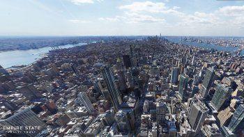 La foto panorámica fue tomada desde el Empire State.