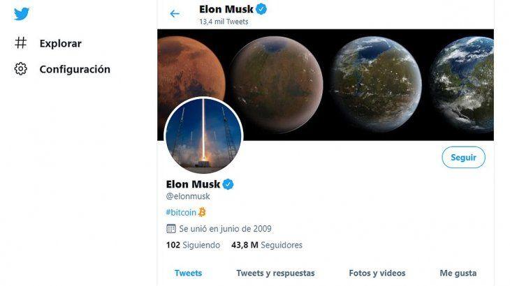 Con una simple referencia a Bitcoin, Musk logró que subiera la criptomoneda.