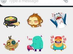 Los stickers ya son parte de los chats.