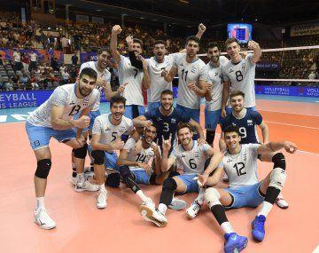 Argentina marcha noveno en la Liga de las Naciones de voleibol.