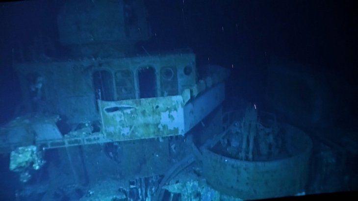 Una expedición descubrió a 6.500 metros de profundidad en las costas de Filipinas los restos de un buque de la Marina estadounidense hundido durante la Segunda Guerra Mundial.