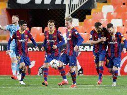 Messi organizó una fiesta para el plantel de Barcelona en su casa.