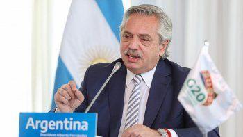 Alberto Fernández participa de la cumbre del G20.