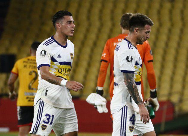 Boca perdió en Ecuador y ya no está tan tranquilo en el grupo de Copa Libertadores.